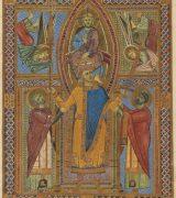 Krönung Heinrichs II. aus dem Regensburger Sakramentar; Bayerische Staatsbibliothek München, Clm 4456, Bl .11r, urn: nbn:de:bvb:12-bsb00050763-2