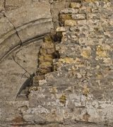 Mauerdetail  im Süd-Querarm.  © Gerhard Fleischer