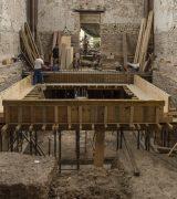 Hier soll eine Plattform aus Beton entstehen.  © Gerhard Fleischer