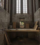 Noch sieht man einen Teil der provisorischen Holzdecke im Westchor.  © Gerhard Fleischer